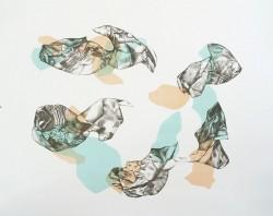 Sans titre, 2016,  lithographie tirée à 10 exemplaires, 50 X 60 cm
