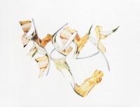 Proliférations #4, 2007, technique mixte sur papier, 30 x 40 cm
