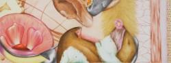 Microcosme, panoramique #4, 2013, crayons de couleur et feutres sur papier, 15 X 40 cm
