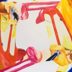 Pop cuts, 2009, huile sur toile, 120 X 120 cm