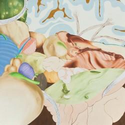 Brain horn 2010 huile et acrylique sur toile 100 X 100 cm